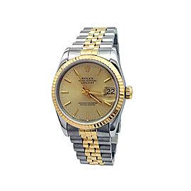 Rolex Datejust 68273 Womens 31mm Watch
