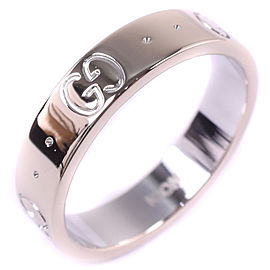 Gucci 18K White Gold Ring Size 4.5