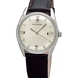 Wittnauer Pie Pan Vintage 33mm Mens Watch