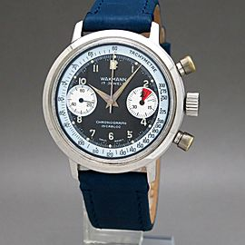 Wakmann Chronograph 7733 332.24 Vintage 37mm Mens Watch 1970s