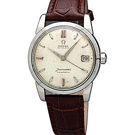 Omega Seamaster Calendar 1960 Vintage 34mm Mens Watch
