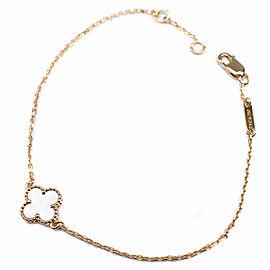Van Cleef & Arpels 18K YG Sweet Alhambra Blur Rubbed Pearl Bracelet