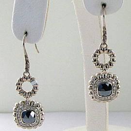 John Hardy Batu Bedeg Hematite Diamond 0.42cts Dangle Earrings