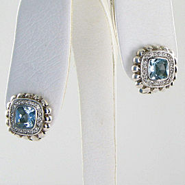 John Hardy Batu Bedeg Earrings Sky Blue Topaz 0.42cts Diamond Sterling