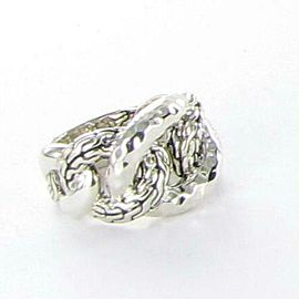 John Hardy Classic Chain Hammered Sterling Link Ring Size 7
