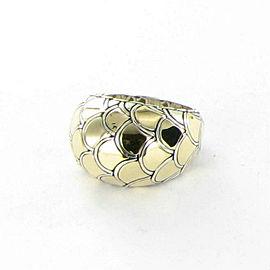 John Hardy Naga Gold Dome Ring 18K Gold Sterling Silver Size 7