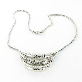 John Hardy Classic Chain Arch Bib Necklace Sterling Silver