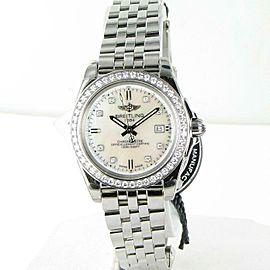 Breitling Galactic 32 Sleek Diamond Bezel MOP Dial Lds Watch A7133053/A801-792A