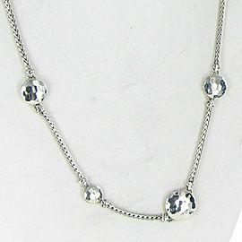 John Hardy Palu Silver Disc Stations Sautoir Necklace Sterling Silver
