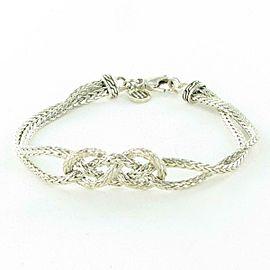 John Hardy Classic Chain Silver Knot Station Bracelet Sterling