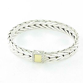 John Hardy Modern Chain 9mm Bracelet 18K Gold Sterling Silver Mens