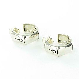 John Hardy Bamboo Hoop Earrings Medium Sterling Silver