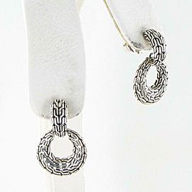 John Hardy Classic Chain Earrings Circle Drop Sterling