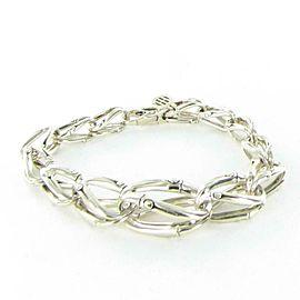 John Hardy Bamboo Loop Link Bracelet Graduated Sterling Silver