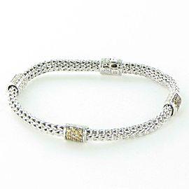 John Hardy Classic Chain 4 Station Bracelet 5mm Mandarin Garnet Sterling Silver