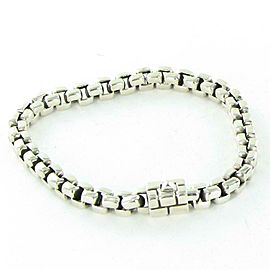 John Hardy Classic Chain Square Link Bracelet 6mm Sterling Silver Mens