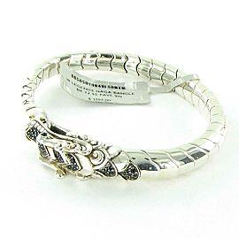 John Hardy Naga Legends Bracelet Black Sapphire Spinel Sterling Silver