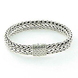 John Hardy Classic Chain 11mm Bracelet Silver Clasp Sterling 925 Mens