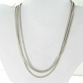 "John Hardy Classic Chain Three Row Necklace 16-18"" Sterling Silver"