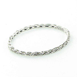 John Hardy Classic Chain 4mm Twisted Bangle Bracelet Blk Sapphires Sterling