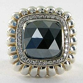 John Hardy Batu Bedeg Ring 25mm Hematite Diamond 0.36cts Sz 7
