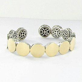 John Hardy Batu Dot Flex Cuff Bracelet 18k Yellow Gold Sterling Silver