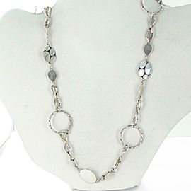 John Hardy Kali Menari Sautoir Round Link Necklace Sterling Silver Chain 36""