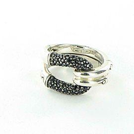John Hardy Bamboo Ring Black Sapphire Spinel Sterling Silver RBS59894BLSBNX7