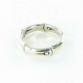 John Hardy Bamboo 6mm Curved Ring Polished Sterling Silver Sz 7 RB5953X7