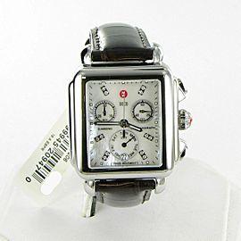 Michele Deco Diamond Chronograph Watch Alligator Strap MOP Dial MW06P00A0046
