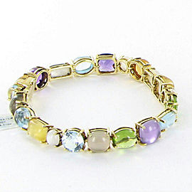 Roberto Coin Shanghai Bracelet Multi Precious Stone 7.8cts 18k Yellow Gold