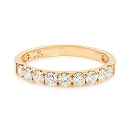 Rachel Koen Scoop Pave Diamond Wedding Band 18K Rose Gold 0.53cttw