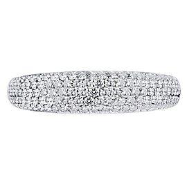 18K White Gold 0.50cts Genuine Diamond Pave Ladies Ring Size 6.5