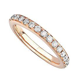 18K Rose Gold 0.65cts Genuine Diamond Pave Ladies Ring Size 6.5