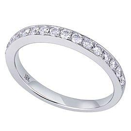 Rachel Koen 18K White Gold 0.44cts Genuine Diamond Pave Ladies Ring Size 6.5