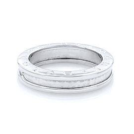 Bvlgari B.Zero 18K White Gold Ring Size 6.75