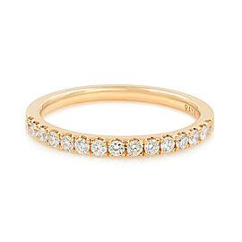 Rachel Koen Scoop Pave Diamond Wedding Band 18K Rose Gold 0.28cttw