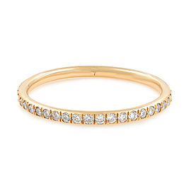 Micro Pave Delicate Diamond Eternity Band 18K Rose Gold 0.39cttw