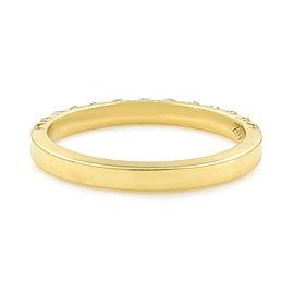 Rachel Koen French Pave Diamond Wedding Band 18K Rose Gold 0.56cttw