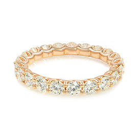 U-shape Diamond Eternity Band 18K Rose Gold 1.90cttw