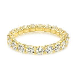 Rachel Koen U-shape Diamond Eternity Band 18K Yellow Gold 1.90cttw