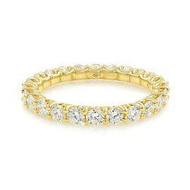 Rachel Koen U-shape Diamond Eternity Band 18K Yellow Gold 1.25cttw