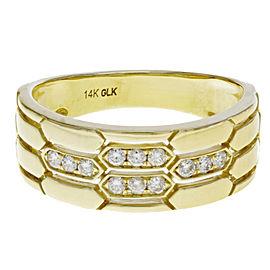 Rachel Koen Yellow Gold Diamond Fashion Wedding Anniversary Ring 0.20cttw
