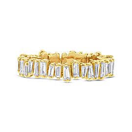 14K Yellow Gold Baguette Diamond 0.67cttw Band Ring SZ7