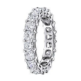 Rachel Koen Platinum Cushion Cut Diamond Eternity Band 5.42cts