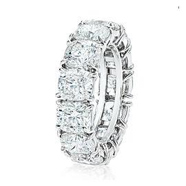 Rachel Koen Platinum Cushion Cut Diamond Eternity Band 9.55cts