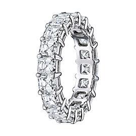 Rachel Koen Platinum Asscher Cut Diamond Eternity Band 6.23cts