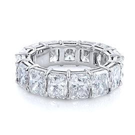 Rachel Koen Radiant Cut Diamond Eternity Band Ring 8.72cts Size 5.5 Platinum