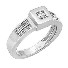 Saya 18K White Gold Diamond Ladies Ring 0.24 Cttw