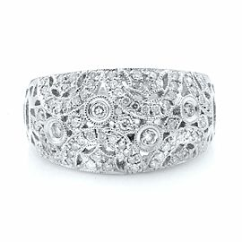 Rachel Koen 14K White Gold Diamond Ladies Dome Ring 0.75ct Size 9